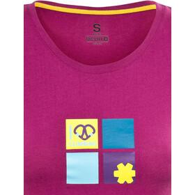 Ocun Pop Art Love Bluzka z krótkim rękawem Kobiety, berry viol